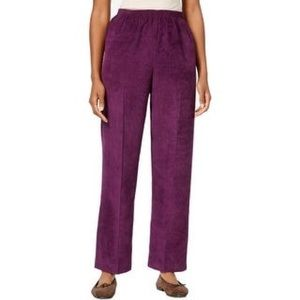 ♥️Alfred Dunner Classic Fit Corduroy Pull On Pants